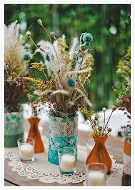 dried flowers wedding centerpiece