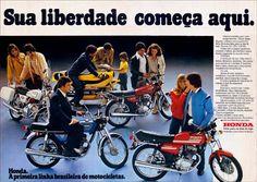 15933 - MOTORCYCLE - HONDA 125 - Sua liberdade começa aqui - 41x29-