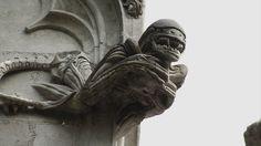 Xenomorph gargoyle by Jean-Louis Boistel  on the Chapelle de Bethléem (Bethlehem Chapel) in Nantes, France