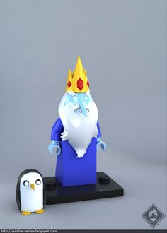 #adventure #time #lego #minifig LEGO Ice King minifig, Volatile Vertex on ArtStation at https://www.artstation.com/artwork/1LObZ