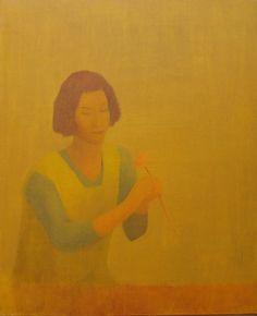 """Enric Balanza recoge la estela de aquellos que, desde Cézanne a Morandi, se empecinaron por conceder al tiempo una dimensión estática. La tarea encierra un nudo trágico dada la dificultad de hacer visible esa """"cadencia de lo duradero"""". La densidad lumínica concede una atmósfera extemporánea a las escenas. La calima empaña la cálida luz meridional y emborrona los rasgos. En los interiores, la sensación onírica queda acentuada por amplios planos cromáticos que parecen adentrarnos en otras… Modern Art, Painting, Dresses, Scale, Art School, Exhibitions, Interiors, Artists, Painting Art"""