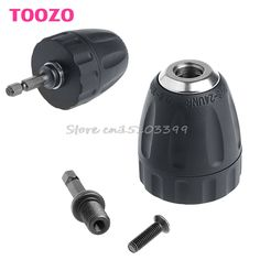 "1//2/"" Square to 1//4/"" Hex Shank Socket Adapter Convert w// Keyless 3//8/"" Chuck 24UNF"