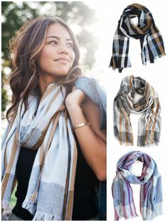 LOVE the new @livefashionable checked scarves for fall that are not only stylish, they provide jobs and support for women in need