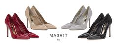 Magrit. MILA: Negro, rojo, nude o gris, qué color te gusta más? ----------------------------------------------------------------MILA: Black, red, nude or grey, which color do you prefer?