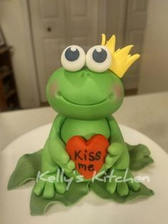 Frog Prince Bridal Shower cake - Cake by Kelly Stevens