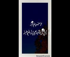 Deko Halloween - Knochiges Halloween - Folien-Tattoo - ein Designerstück von CatrinKerschl bei DaWanda