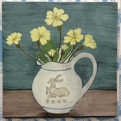 'Blackheath cup' when I was a child my Granny had a house in Blackheath, this cup was from her tea service, I now have this set and it… Rachel Grant, Tea Service, Watercolor Flowers, Drawing Ideas, Flower Art, Still Life, Flower Power, Tabletop, Card Ideas