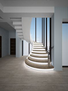 Types of stairs - Production of concrete stairs in Kiev and Ukraine Staircase Design Modern, Luxury Staircase, Stair Railing Design, Interior Staircase, Home Stairs Design, Stairs Architecture, Modern Stairs, Modern House Design, Home Interior Design