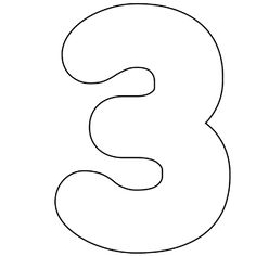 It 39 s as easy as 1 2 3 to use free printable numbers for Number 3 cake template