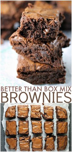"""BETTER THAN SEX CHOCOLATE BROWNIES! Why make a box mix brownies when I'll bet you have everything on hand to make these? They really are """"Better Than Box Mix"""" brownies! 