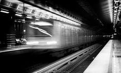 Metro by Stavros Marmaras on Urban Photography, Black And White Photography, Street, Black White Photography, City Photography, Walkway, Bw Photography