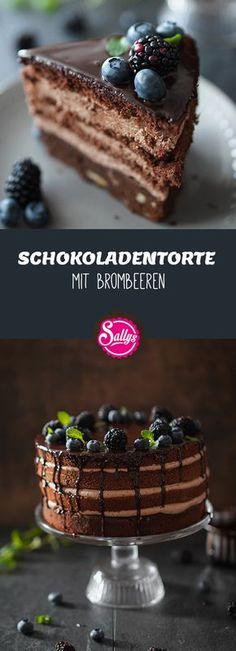 Sehr leckere Schokoladentorte mit Brombeeren! Saftig :)