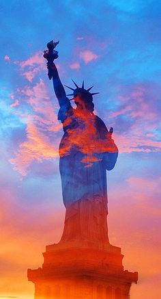 Orange & Blue Liberty