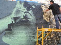 El Mac in action  #streetart #elmac
