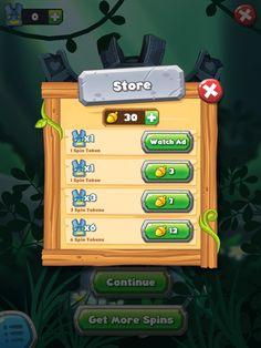 Forest Home | Buy More Spins| UI, HUD, User Interface, Game Art, GUI, iOS, Apps, Games, Grahic Desgin, Puzzle Game, Maze Games, Brain Games | www.girlvsgui.com