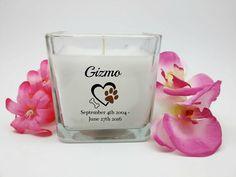 #Dog #Memorial #Candle #InLovingMemory #Personalized #Candles #MemorialGifts  #SympathyGifts #AnniversaryCandle #UniqueGift #Etsy SableCreationsCandle on Etsy @etsylove @Etsy