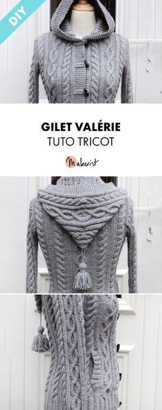 tricoter veste a capuche femme