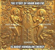 Kundalini, meaning The Serpent of Satan Ancient Aliens, Ancient Art, Ancient Egypt, Ancient History, Ancient Myths, Spirit Science, Black History Facts, Ancient Mysteries, Adam And Eve