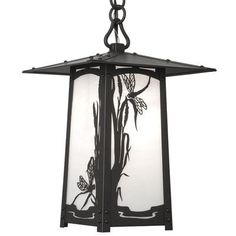 "America's Finest Lighting Company Cobblestone 1 Light Outdoor Hanging Lantern Shade Finish: Wispy White, Finish: Old Penny, Size: 13.5"" H x 7"" W x ..."