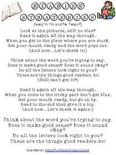 reading strategies song