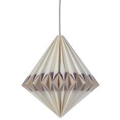 LAMPE - SEBRA PLISSERT PAPIRLAMPE (LILLA) from minikids.no