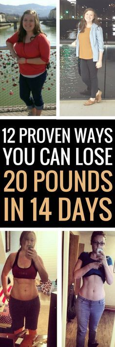 12 ways any woman can lose 20 pounds in 14 days.