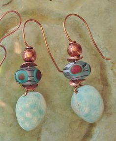 Handmade Ceramic and Lampwork Copper Artisan by SlinginMud on Etsy, $27.00