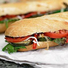 Meatless Monday: Veggie Sandwich with Vinaigrette
