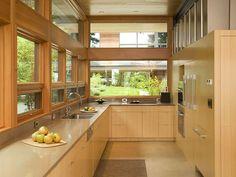 Cozinha de Madeira Natural