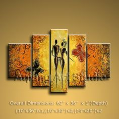 MODERN OIL PAINTING HUGE ABSTRACT WALL ART DECOR INNER FRAMED WORTHlESS FLOWERS $165.00 . More paintings available from eBay store http://stores.ebay.com/Oriental-Arts-And-Crafts/