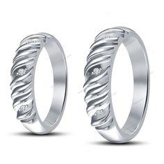 New Jewelry Couple's Wedding Band Ring 14K White Gold Finish Simulated Diamond #beijojewels #CouplesWeddingBand