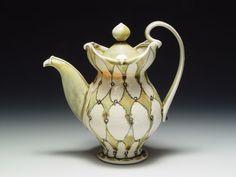 Lorna Meaden harlequin teapot.