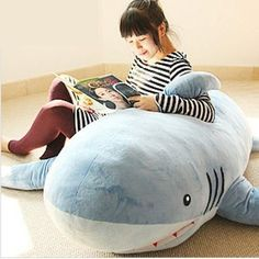 Huge Stuffed Plush Shark Pillow.