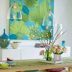 farbkombination in blau - wandfarben in: blau - grün - gelb ... - Kinderzimmer Grun Und Blau