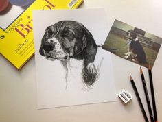 Custom Dog or Cat or Any Pet Portrait Head Study in by waghappyart, $100.00