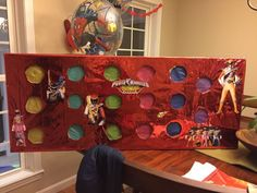 Resultado de imagen de punch wall birthday Power Rangers Games, Power Rangers Mask, Power Rangers Megazord, Power Rangers Ninja Steel, Power Ranger Pinata, Power Ranger Birthday, Power Ranger Party, Birthday Party Games, 6th Birthday Parties