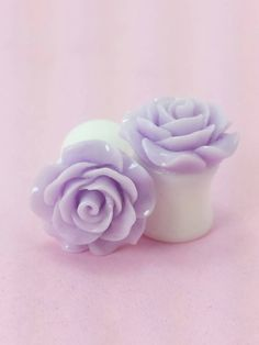 Lavender Pastel Rose Plugs Rose Jewelry, Ear Jewelry, Jewellery, Long Fringe Hairstyles, Pastel Roses, Tunnels And Plugs, Gauges Plugs, Stretched Ears, Spring Sale