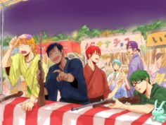 Precious babies at the festival! Judging from their faces, Kise totally missed | KnS | Kuroko no Basuke