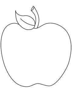 Tasty Apple Coloring Page : Coloring Sky Apple Coloring Pages, Apple Picture, Toddler Crafts, Toddler Activities, Apple Theme, Art N Craft, Online Coloring, Learning Colors, Autumn Theme