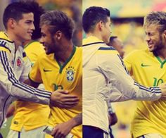 ❤️ James Rodriguez and Neymar Jr. Da Silva Santos ❤