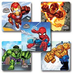 Super Hero Squad Stickers  #ST470 --MUST FIND AS WALL ART!