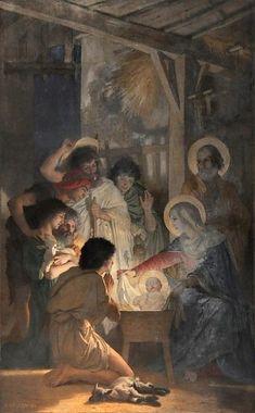 «L'Adoration des bergers» de William Bouguereau (1825-1905) dans la chapelle de la Vierge