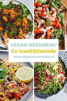 5 heerlijke vegan maaltijdsalades die je kunt aanvullen met een broodje of een kom soep