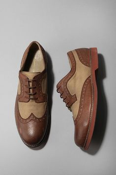 Hawkins McGill Canvas & Leather Brogue for Men #men's #fashion #menswear #FW 12/13 #fall #winter #man #outfit #leather #shoes