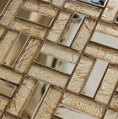 Stainless steel tile glass tiles glass mosaic bathroom tiles SSMT012 modern bathroom tile