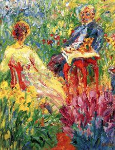 Emil Nolde ~ Conversation in the Garden ~ (Danish: 1867-1956)