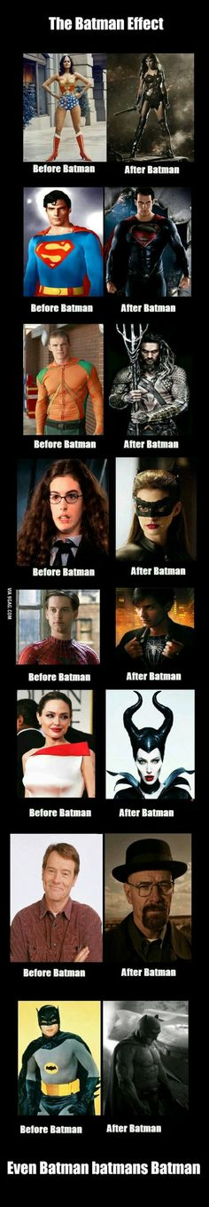 The dark knight effect.