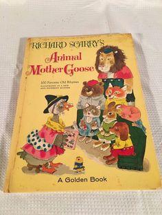 Vintage A Golden Book Richard Scarry's Animal Mother Goose 100 Favorite Rhymes Richard Scarry, Mother Goose, The 100, Illustration, Books, Photos, Animals, Ebay, Vintage