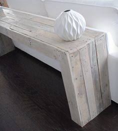 Reclaimed Wood Console Table by Raka Mod on Scoutmob Shoppe. Love this sun-bleached wood hue.