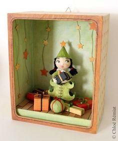 """""""Mademoiselle Coccinelle"""" - Photo de BOITES ET CADRES DISPONIBLES * Available boxes and frames - Tibout de blog"""
